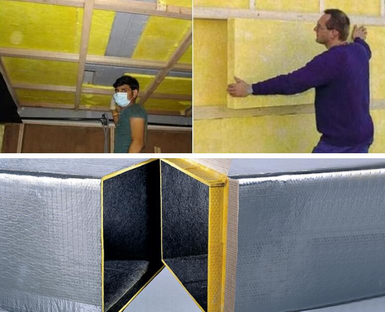 Rigid Fiberglass Insulation Board Foil Faced Ecoin Insulation